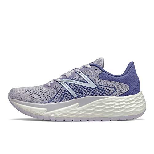 New Balance Women's Fresh Foam Evare V1 Running Shoe, Thistle/Magnetic Blue, 10 M US