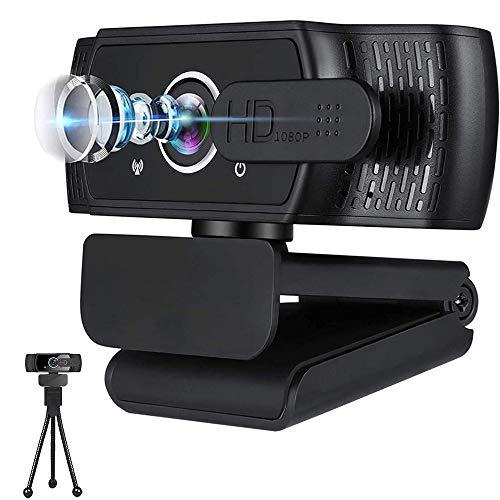 1080P Webcam mit Mikrofon für Desktop & Laptop, USB-Webcam mit Privatsphäre, Unterstützung für Youtube, Skype-Videoanrufe, Studium, Konferenz