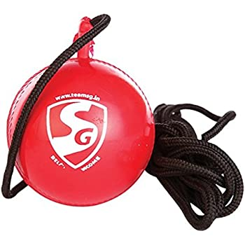 SG iball Synthetic Cricket Ball, Pack of 2 (Red)