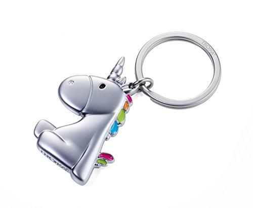 TROIKA KR17-08/MA Porte-clés Licorne – Pas le dernier de son genre – En fonte de métal – Mignon – Multicolore – L'original de