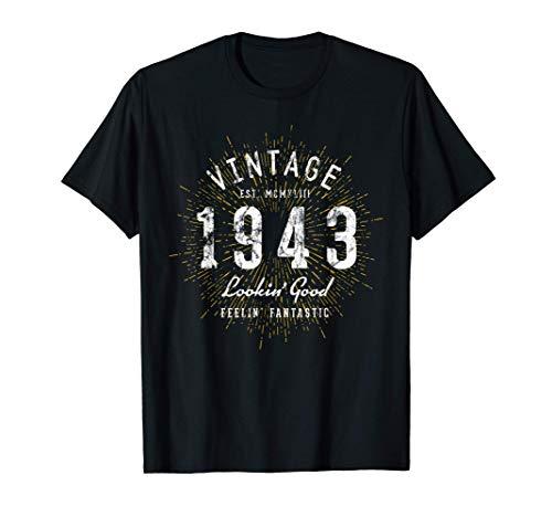 Nato nel 1943 Vintage 78° Compleanno Maglietta