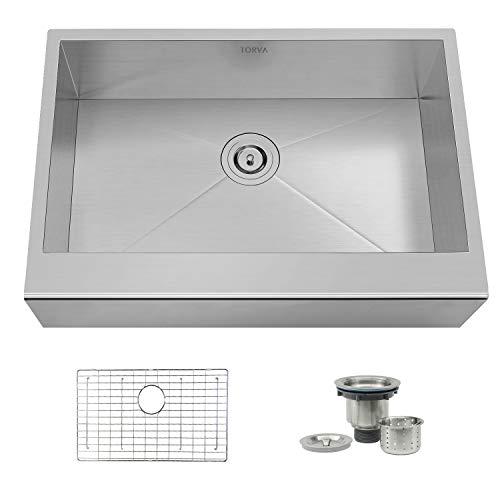 Krauss Farmhouse Apron 30″ Single-bowl 16-gauge Stainless Steel Kitchen Sink