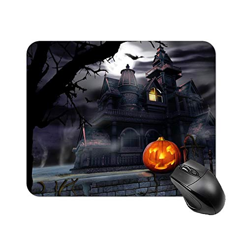 Gaming Mouse Pad Halloween Haunted House | Annual Halloween Parade Night Art Desktop and Laptop 1 Pack 25x20x2cm/9.8x7.9x0.8inch