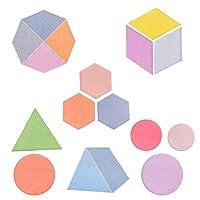 Baryuefull 楽しい幾何学図形付箋 キュートでカラフルな付箋 異なる形状 自己粘着メモパッドセット 子供 オフィス用