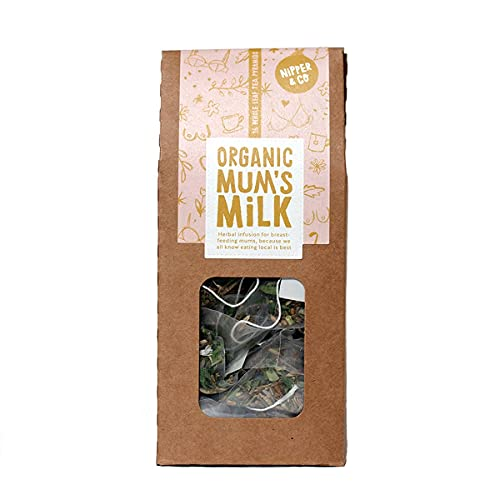 Nipper & Co | Organic Mums Milk | Breastfeeding Tea for Lactation - Boosts Milk Supply, Naturally Caffeine Free Lactation Tea | Pack of 1, 16 Biodegradable Tea Bags