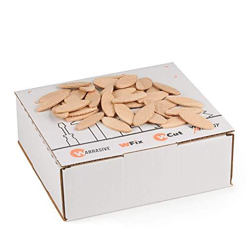 Flachdübel von WFix Größe 20 | 500 Stück | Dübel aus massiver Buche | Kompatibel mit der Dübelfräse & Lamellofräse | Holzdübel wie Lamello