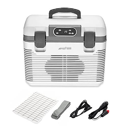 LEIKEI Refrigerador del Compresor, Mini Refrigerador Eléctrico, Congelador del Coche del Refrigerador, Compresor Portátil/Refrigerador Termoeléctrico, para Acampar,5 keys-19L