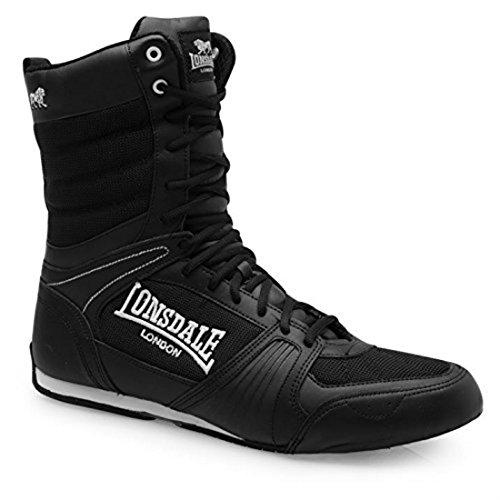 Lonsdale Bottes De boxe pour homme Laçage intégral - noir - noir/blanc, 38