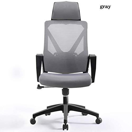 Fauteuil Computerstoel, Bureaustoel Met Hoge Rugleuning, Bureauliftstoel, Professionele Gamingstoel, Comfortabele Zomer Bureaustoel, EU-norm (Color : Gray, Size : 115 * 60cm)