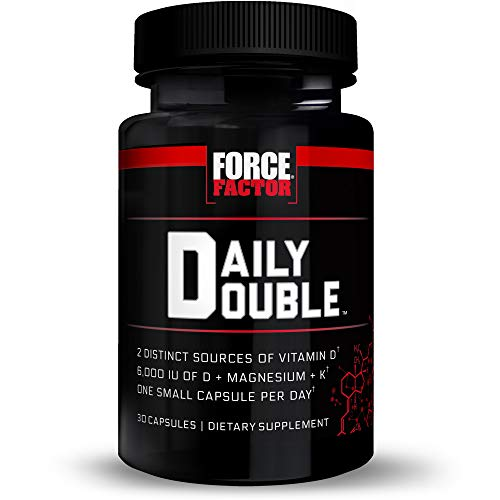 Force Factor Daily Double Vitamin D Supplement, Multi-System Support for Skin, Heart, Bone, Teeth, Immune, and Joint Health, 30 Count