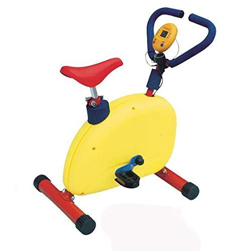 Bicicleta Estática para Niños Bicicleta Estática para El Hogar con Cojín para El Asiento Bicicleta Giratoria para Jardín De Infantes Equipo De Gimnasia para Deportes Al Aire Libre (Color : Yellow)
