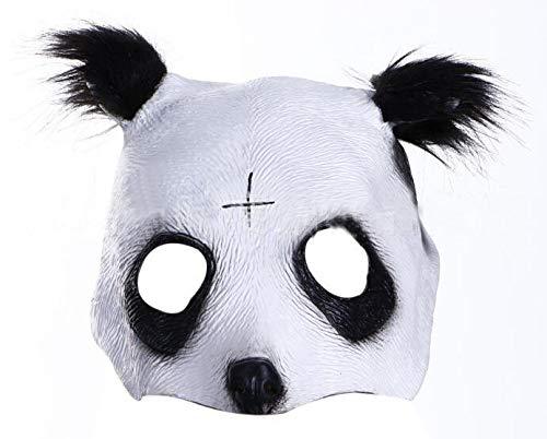 Achimer Cro Panda Masker Thematys Pandamasker van latex met kruis tranen diermasker voor carnaval, festival, kostuum voor volwassenen - latex, unisex eenheidsmaat