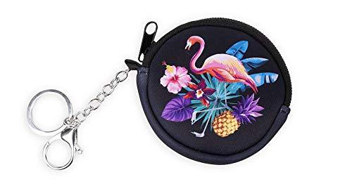 Münzbörse Kinder - Geldbörse für Mädchen - Geldbeutel, Mini Portemonnaie, Kleingeld Münzbeutel (Flamingo)