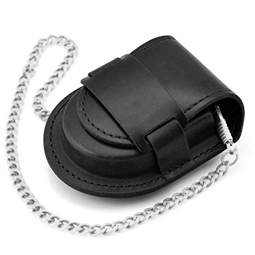 JCH Wallet Multi-Function Leather with Wrist Strap Short Top Layer Leather Clutch for Men Color : Black, Size : S