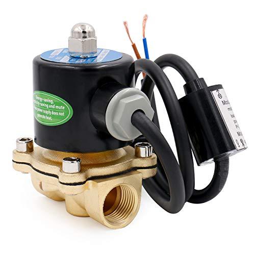 Heschen Messing Elektrisches Magnetventil 1/2 Zoll AC 220 V Direct Action Wasser Air Gas Normalerweise geschlossen Ersatz-Ventil