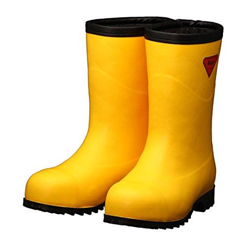 SHIBATA 防寒安全長靴セーフティベアー#1011白熊(イエロー)フード無し AC101-22.0 防寒長靴