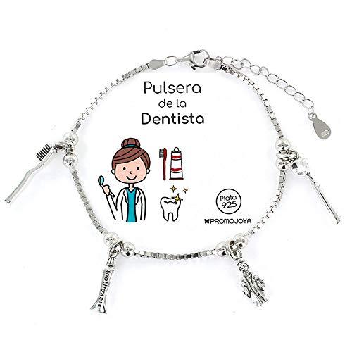 Eres lo mas mujer Pulseras Profesiones Plata (Dentista)