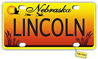 Tobe Yours License Plate Cover Nebraska State - Lincoln Printed Auto Truck Car Motorcycle Front Tag Metal License Plate Frame Cover 6