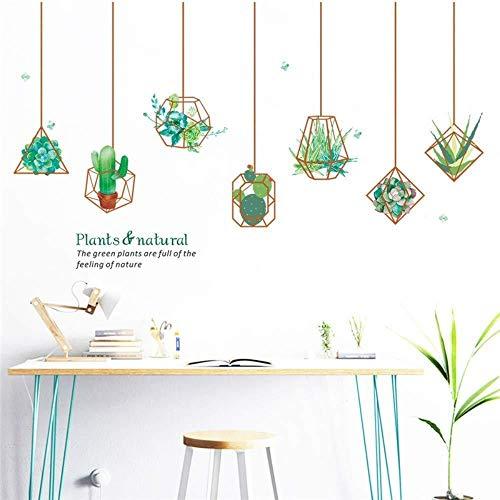 Creatieve groene bonsai in bloempot, muurstickers, decoratie voor thuis, woonkamer, raamdecoratie, muurstickers van PVC, muurkunst om zelf te maken