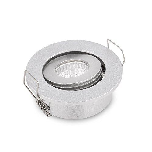 Mini-LED-Einbauleuchten, 3 W, COB, silberfarben, 300 lm, 2800 K, 10 Stück