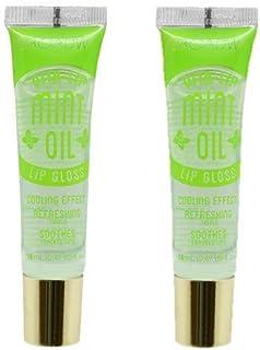 2-PACKS Kiss Broadway Clear Lip Gloss (Mint Oil)