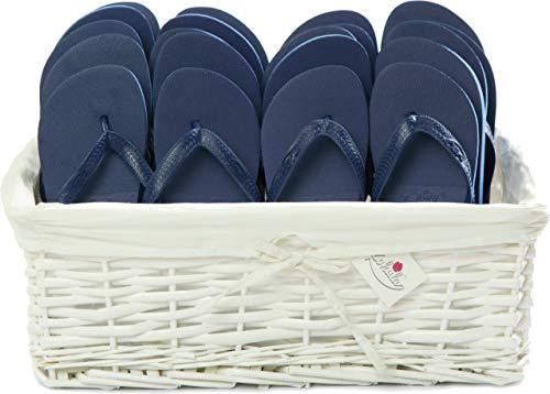 ZOHULA Pack de soirée Original Tongs - 20 Paires (Mx20, Bleu Marin)