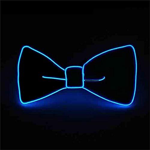 Glaray Leuchtend Krawatte Neuheit Einstellbar EL Draht LED Aufhellen Leuchtende Fliege (Blau)