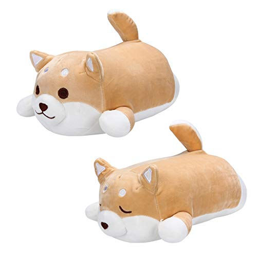 66toys Stuffed Animal Shiba Inu Plush Doll, Soft Pillow Dog Baby Play Toy Nursery Bed Sofa Chair Decoration, Best Valentine Christmas Birthday Gifts for Family Friends Kids (2 Pack)