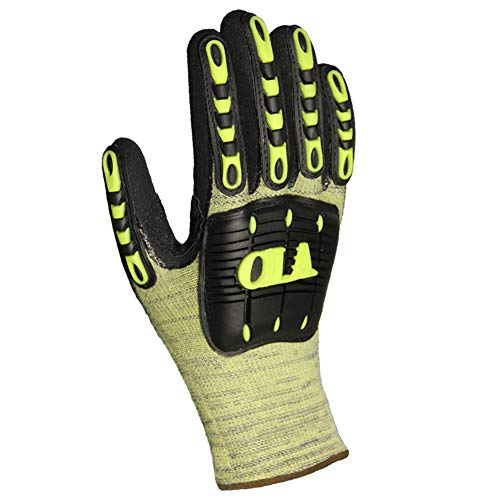 Impact Reducing Cut Resistant Anti-Vibration Work Gloves