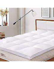 BedStory Surmatelas, Couvre de Matelas en Microfibre 7D Hypoallergénique, Protège Matelas Respirant,Moelleux,Anti-Acarien pour Un Confort de Sommeil…