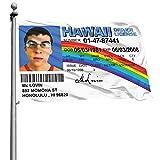 HESMENO Eeatz Mclovin bandera de identificación falsa bandera 3x5ft universidad dormitorio hombre cueva frat pared al aire libre nuevo nuevo 2021