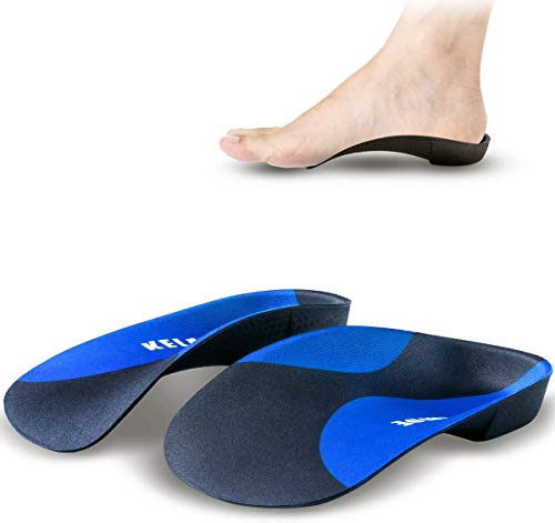 Plantar Fasciitis Arch Support Insoles for Men and Women Shoe Inserts - kelaide 3/4 Orthotics Insoles with Deep Heel Cup for Flat Feet, Over-Pronation, Relief Heel Spur Pain