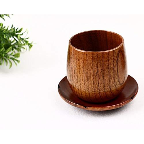 Kaffeetasse Holz Trinkbecher Kaffeebecher Tragbar Mit Behälter, Für Wein Bier Wasser Milch,Braun