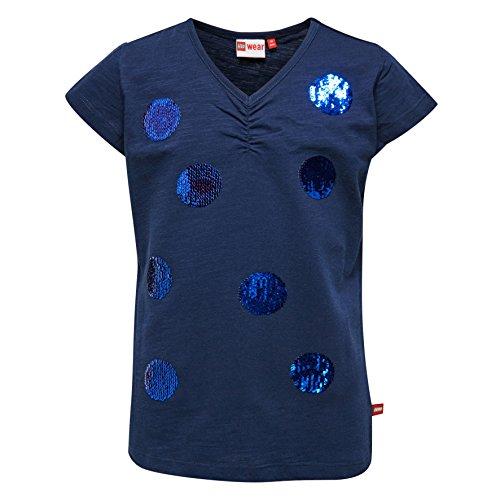Lego Wear Mädchen T-Shirt Lego Girl Tanya 308-20122, Gr. 122, Blau (Dark Navy 589)