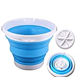Portable Mini Foldable Washing Machine with Turbo Compact Ultrasonic Washer - Folding laundry Lazy Magic Tub USB Powered Lightweight Washer for Camping Dorms Business Trip College Rooms (Blue)