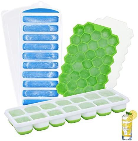 Ice Cube Trays Patinao 3 Pack Flexible Silicone Easy Release Ice Trays for Freezer BPA Free product image
