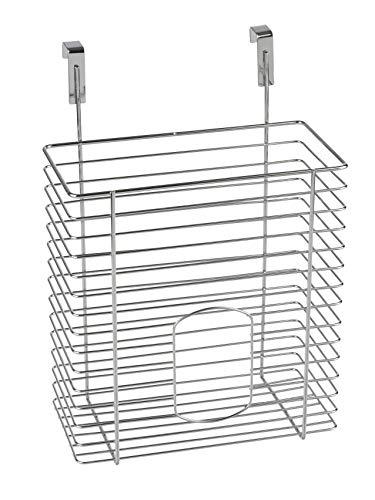 WENKO 2340100 Cesta para las bolsas de la compra - para colgar, Metal cromado, 20 x 29 x 8 cm, Cromo