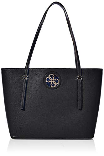 Guess Damen Open Road Tote, Schwarz (Black), 14x27x40 centimeters