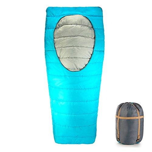QFFL shuidai Sac de Couchage/Imperméable / Adultes Camping en Plein air Épaissir Hiver Coton Sac de Couchage créatif Sac de Compression (4 Couleurs Disponibles) (2 Tailles Disponibles)