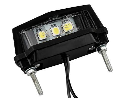 AUTOLIGHT 24 LED Kennzeichenleuchte Motorrad Hell ABS E-geprüft 3 SMD L 58,5mm x H 19mm x T 30mm