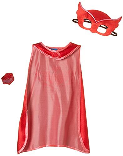 Amscan 9903735 - Kinderkostüm PJ Masks Owlette, Umhang, Maske und Armband, rot