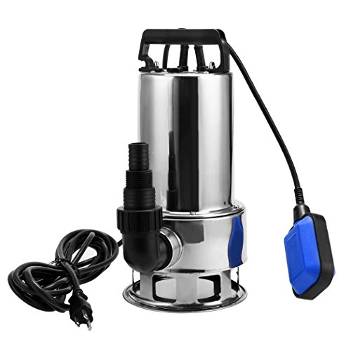 1.5HP Stainless Steel Sump Pump Submersible Water Pump Clean/Dirty Water Pool Pump with Float Switch, 4356 GPH
