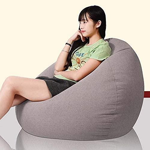 EPYFFJH Sacchetto di Fagioli Adulto, Gaming Lazy Lounger Lounger Divano Sedia Imbottita Sedia reclinabile per Soggiorno, Camera da Letto, Giardino, all'aperto, Rosso (Color : Gray)