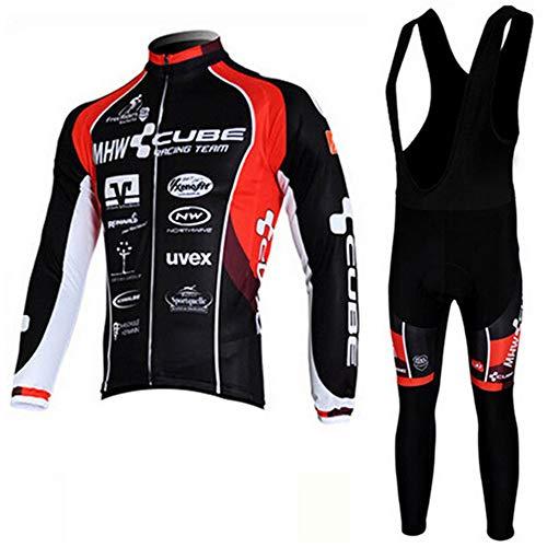 Outdoor-Winter langärmelige Jacke Radsport-Anzug der Frauen Latz Anzug warm und flexibel geeignet für Outdoor-Ski Mountainbike,L