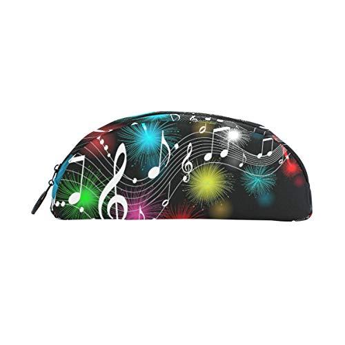 Estuche para bolígrafo Estacionario Arco iris Fuegos artificiales Nota musical Bolsas para lápices Semicírculo Bolsa portátil para niños escolares Bolsa de cosméticos Maquillaje Estuche de belleza