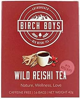 Reishi Tea with Rose Hips - 16 Tea Bags from Wild Reishi Mushroom
