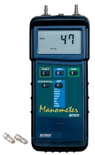 Extech 407910 Heavy Duty 29psi Differential Pressure Manometer