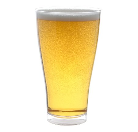 Juego de 6 vasos de plástico para cerveza (poliestireno), 400 ml