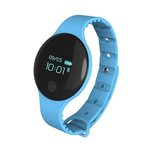xiaoxioaguo Reloj de hombre inteligente podómetro fitness mujer reloj impermeable deporte reloj pulsera Bluetooth azul