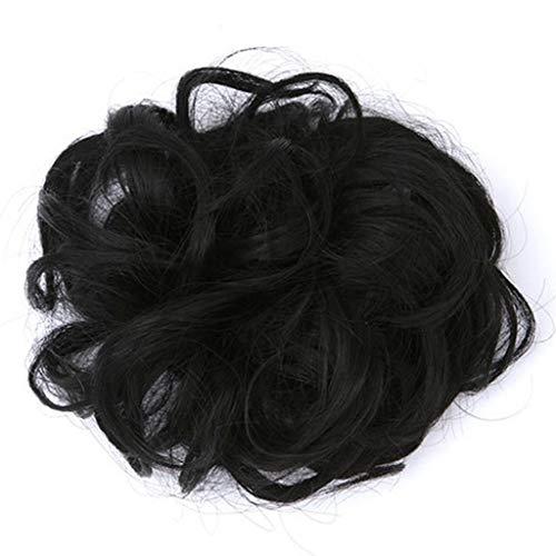 Femme Filles synthétique Chignon postiche Extension de Cheveux Perruque de Cheveux Hot Girl bouclés-Vague-Cheveux Chignon Clip Peigne en Extension de Perruque postiche Pratique
